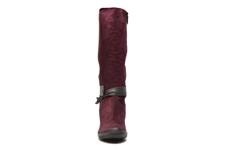 Bottes Dkode Nellie Bordeaux vue portées chaussures