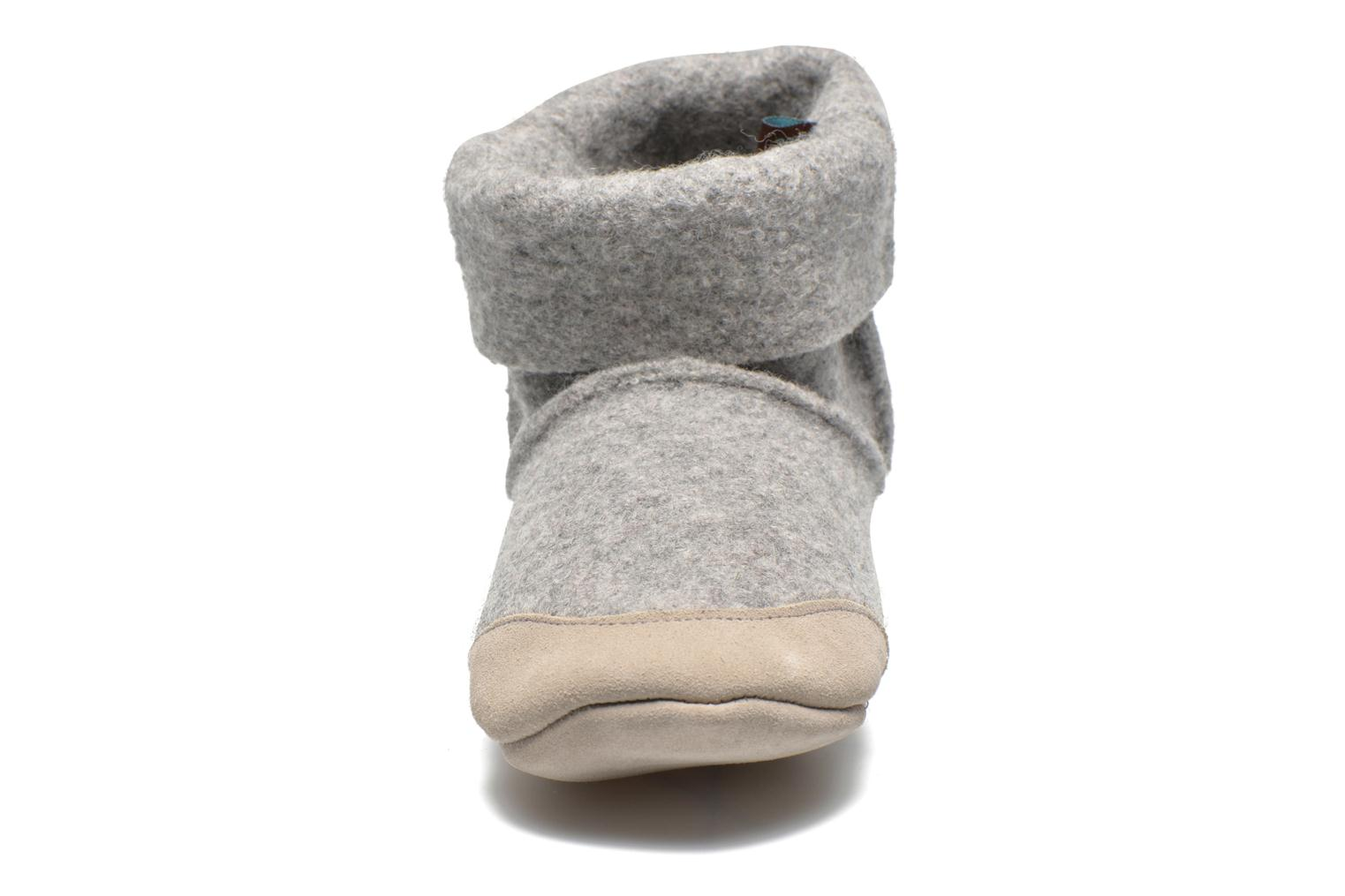 Ladies Bootee with Suede Light Grey