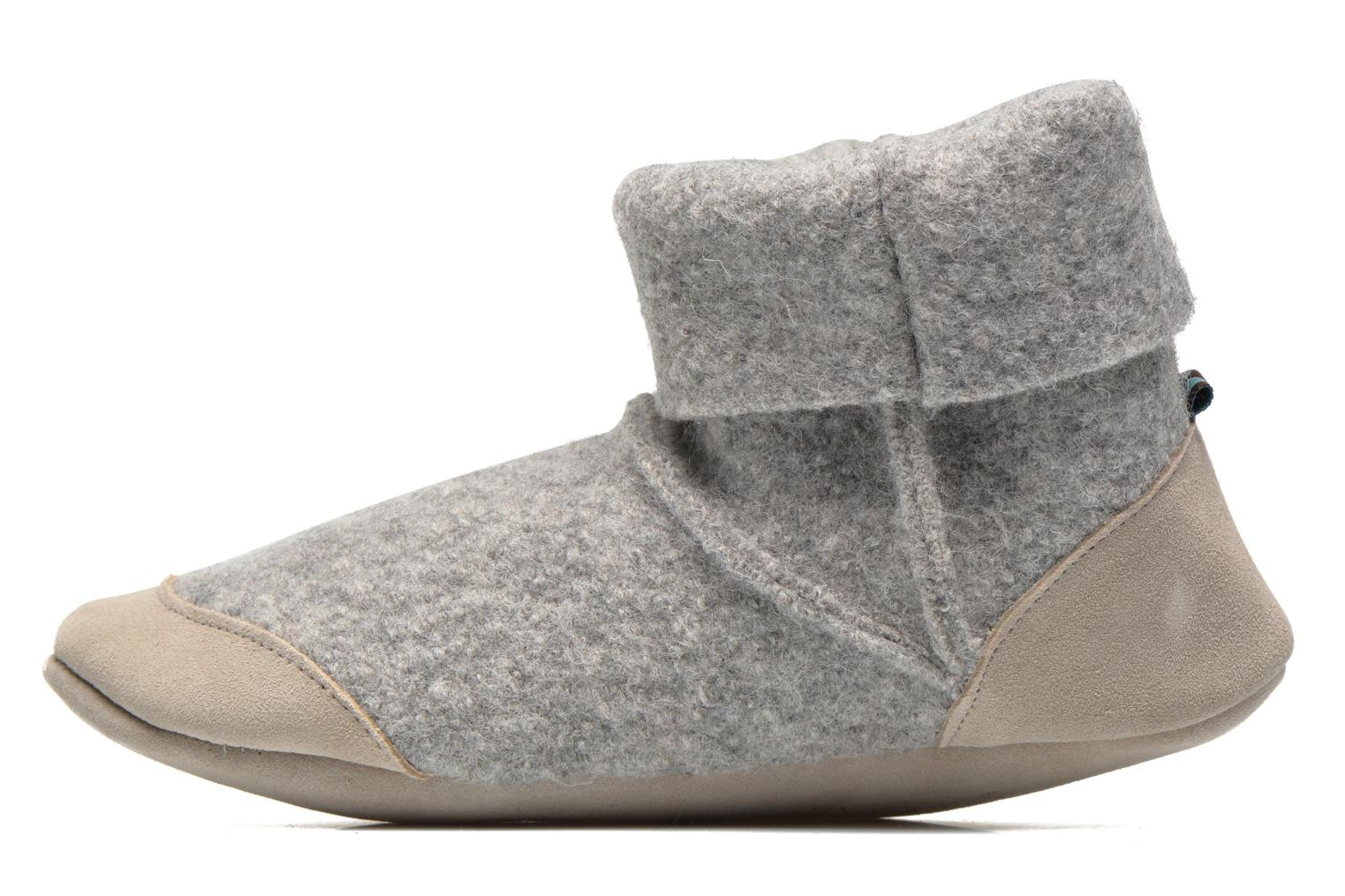 Chaussons Ruby Brown Ladies Bootee with Suede Gris vue face