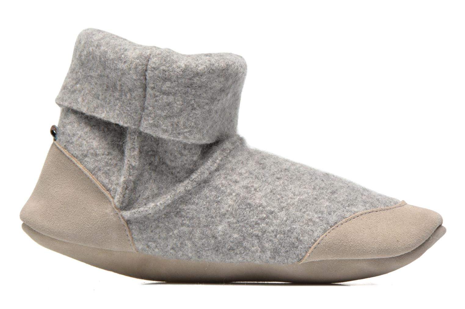 Chaussons Ruby Brown Ladies Bootee with Suede Gris vue derrière