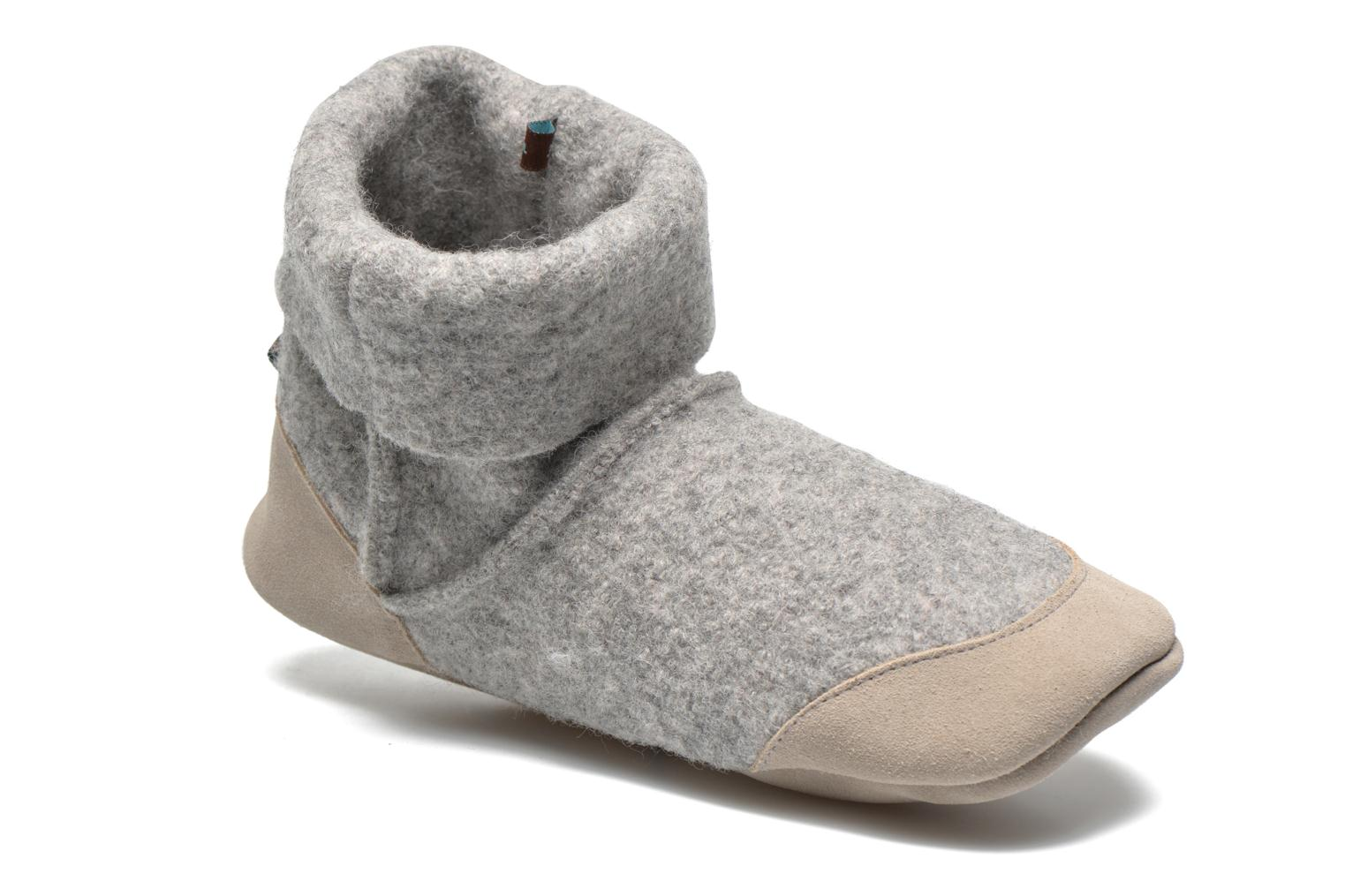 Chaussons Ruby Brown Ladies Bootee with Suede Gris vue détail/paire