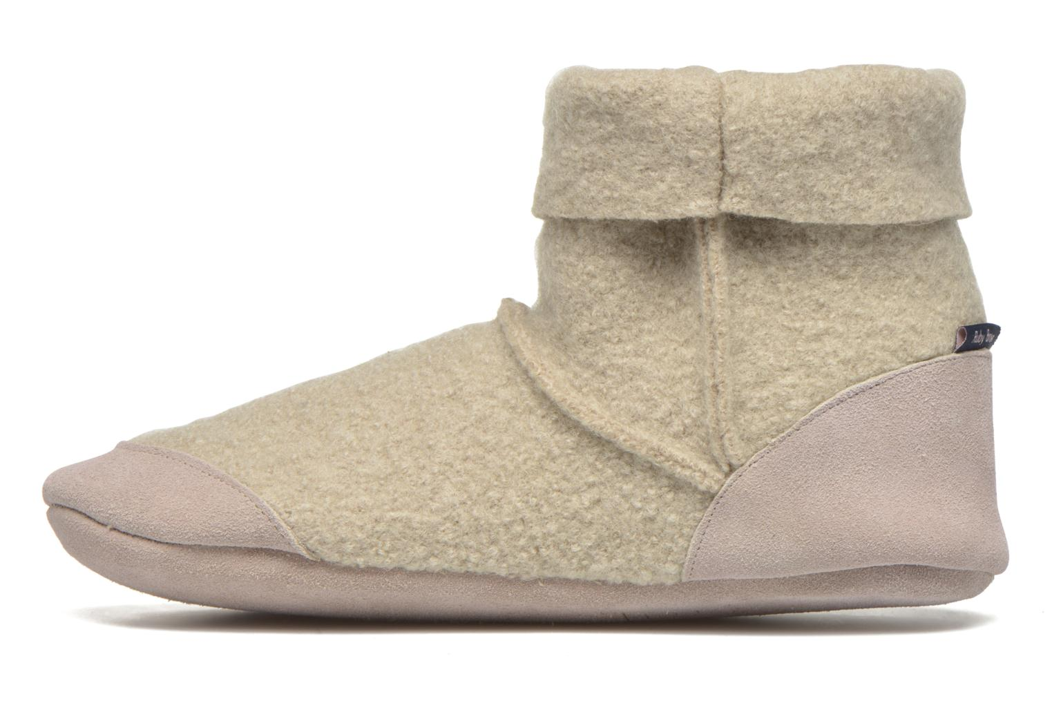 Chaussons Ruby Brown Ladies Bootee with Suede Beige vue face