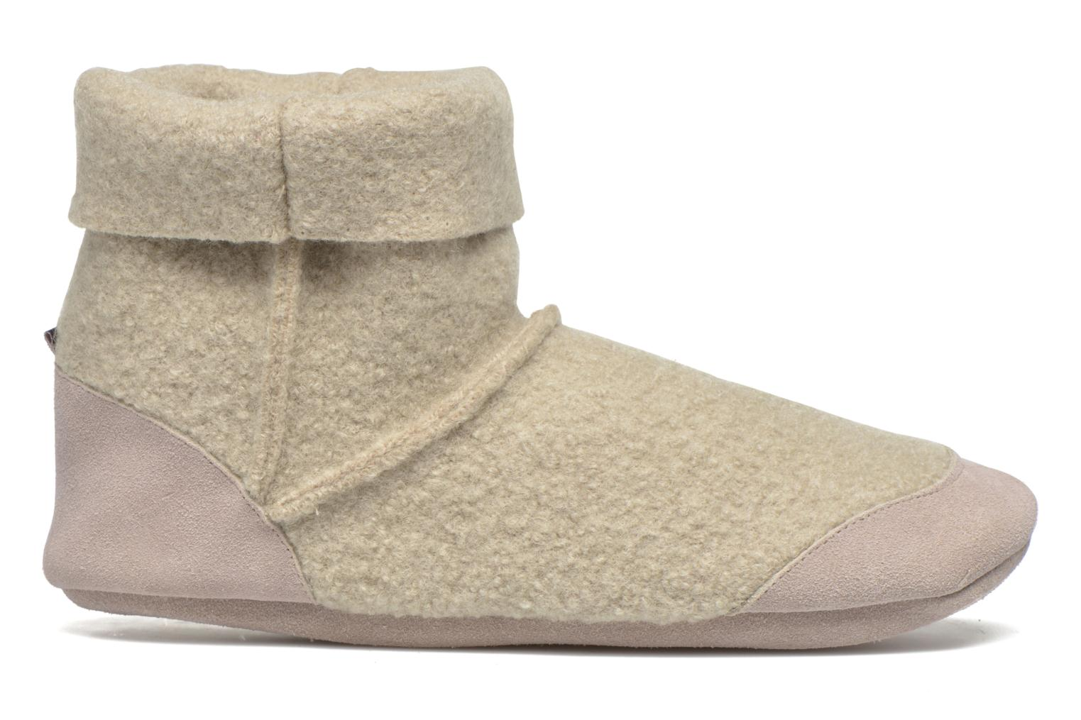 Chaussons Ruby Brown Ladies Bootee with Suede Beige vue derrière