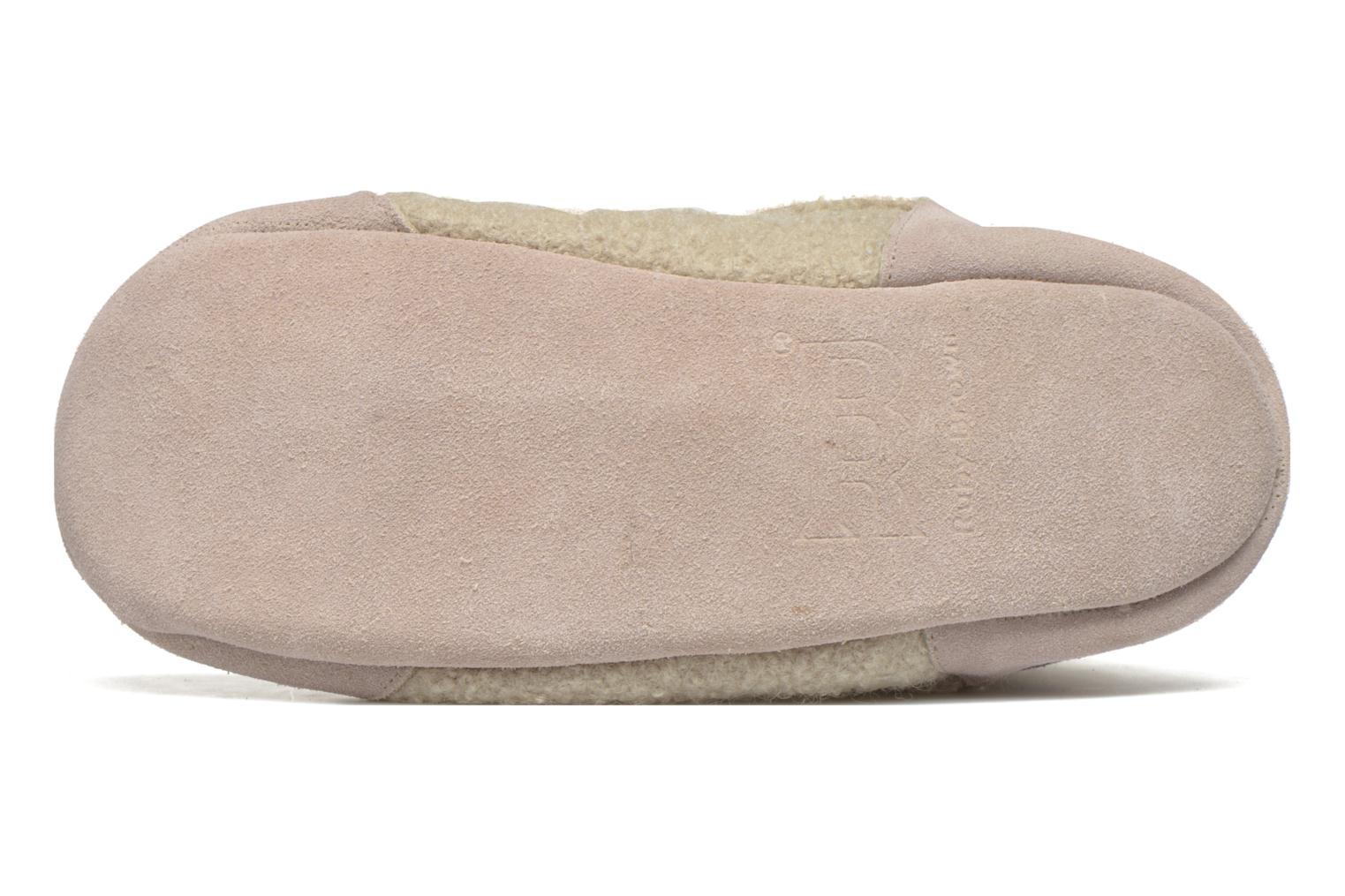 Chaussons Ruby Brown Ladies Bootee with Suede Beige vue haut
