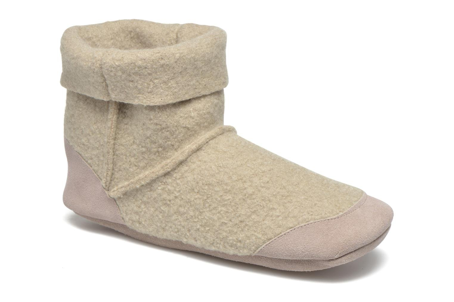 Chaussons Ruby Brown Ladies Bootee with Suede Beige vue détail/paire