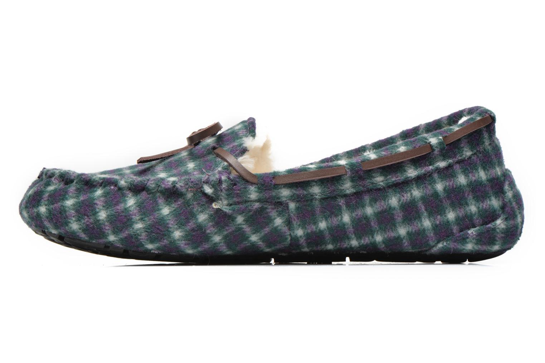 Pantoffels Ruby Brown Check mocassin M Multicolor voorkant
