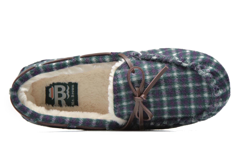 Pantoffels Ruby Brown Check mocassin M Multicolor links