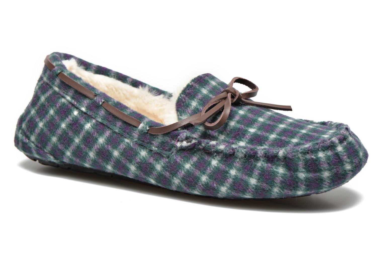 Pantoffels Ruby Brown Check mocassin M Multicolor detail