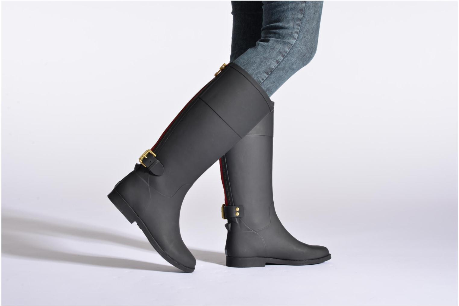 Boots & wellies Colors of California Lola Black view from underneath / model view