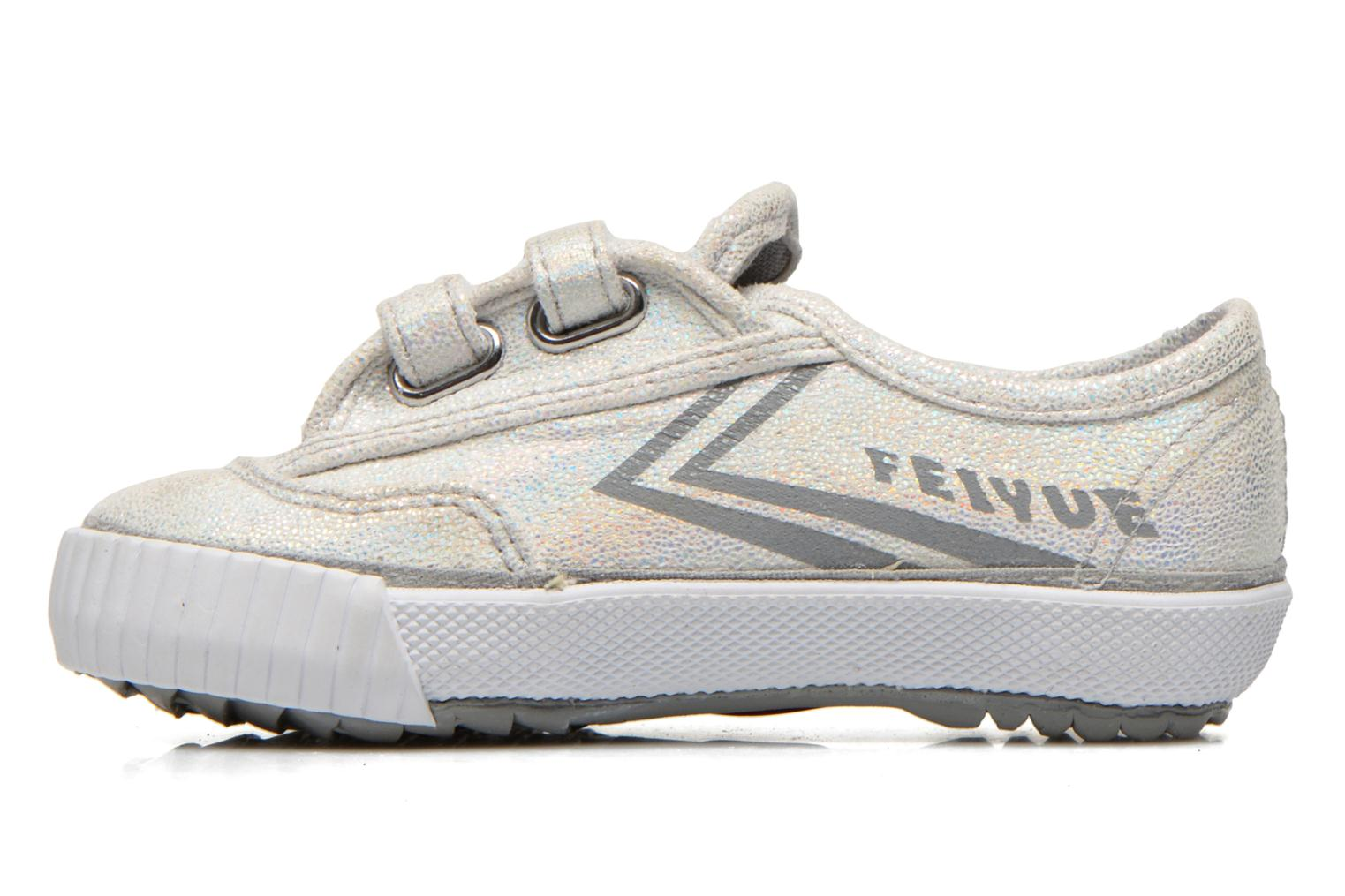 Trainers Feiyue Fe Lo Glitter Easy Silver front view
