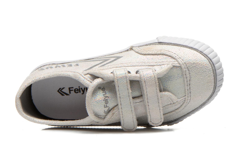 Sneakers Feiyue Fe Lo Glitter Easy Silver bild från vänster sidan