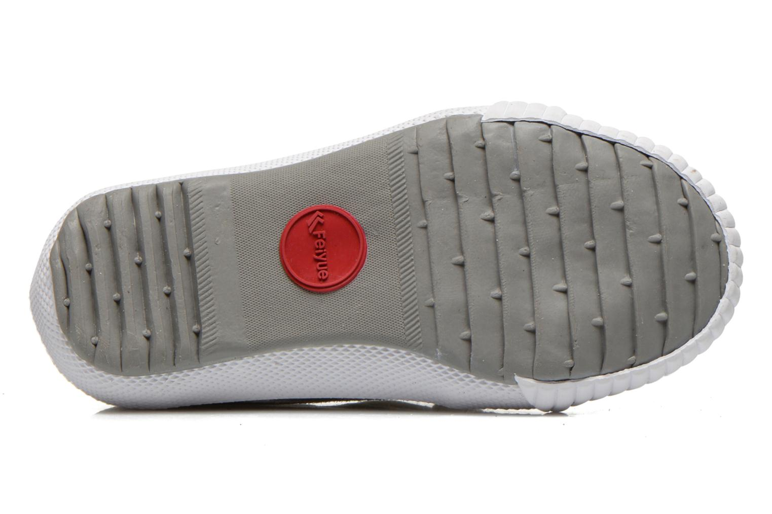 Trainers Feiyue Fe Lo Glitter Easy Silver view from above