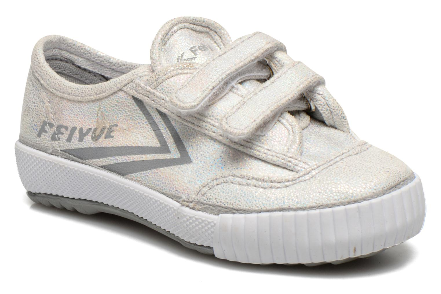 Trainers Feiyue Fe Lo Glitter Easy Silver detailed view/ Pair view