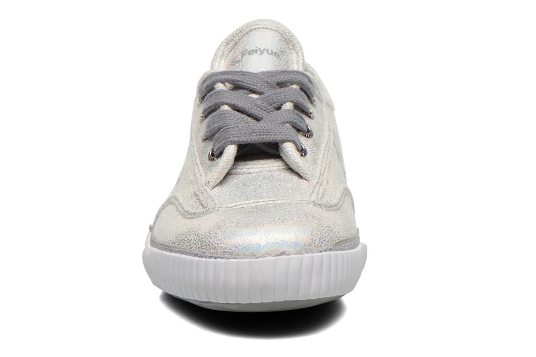 Baskets Feiyue Fe Lo Glitter Argent vue portées chaussures