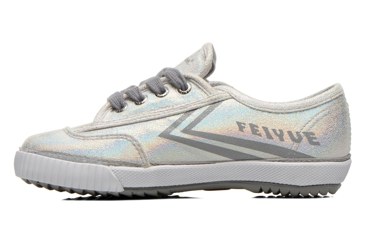 Trainers Feiyue Fe Lo Glitter Silver front view