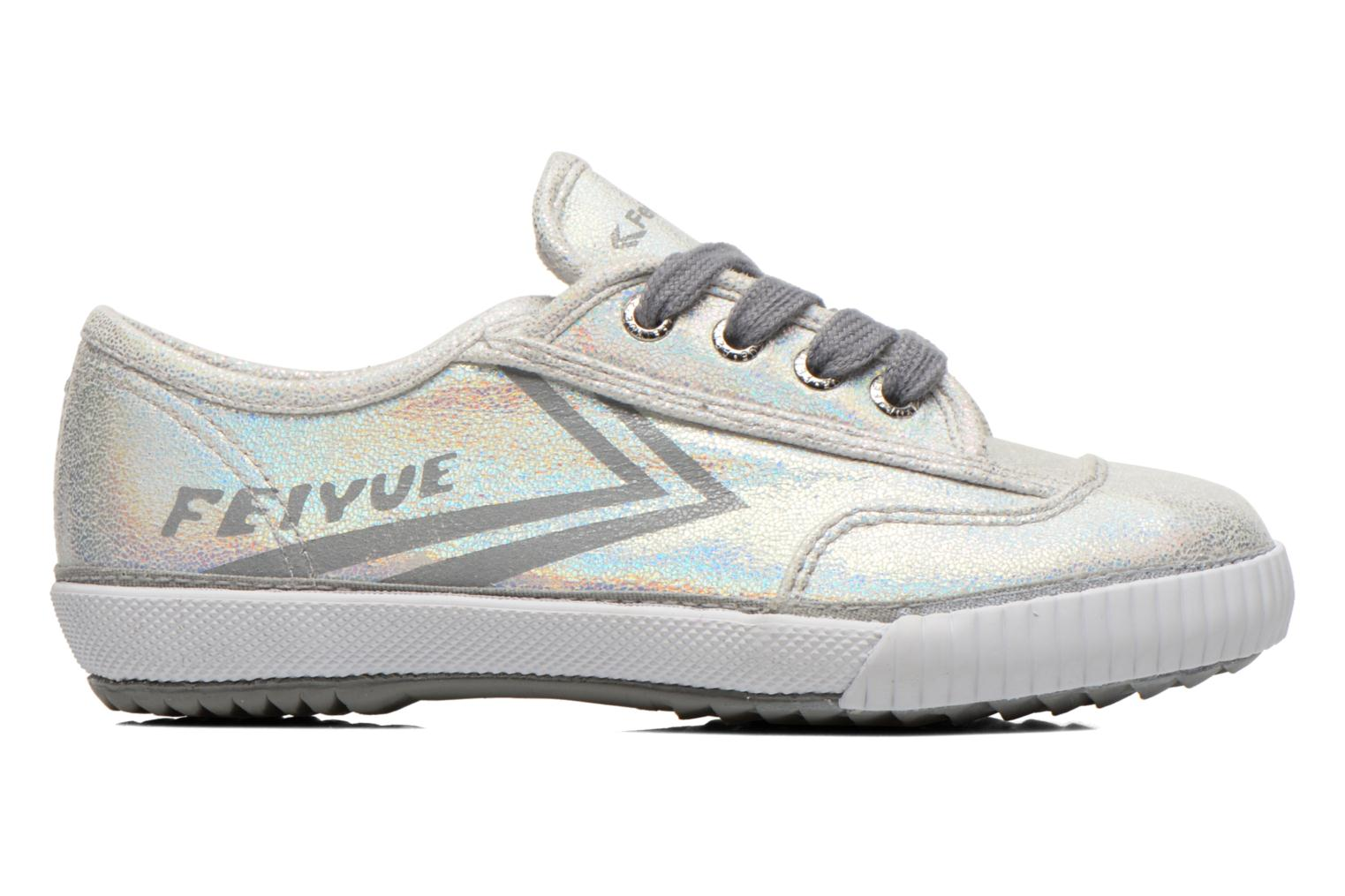 Trainers Feiyue Fe Lo Glitter Silver back view