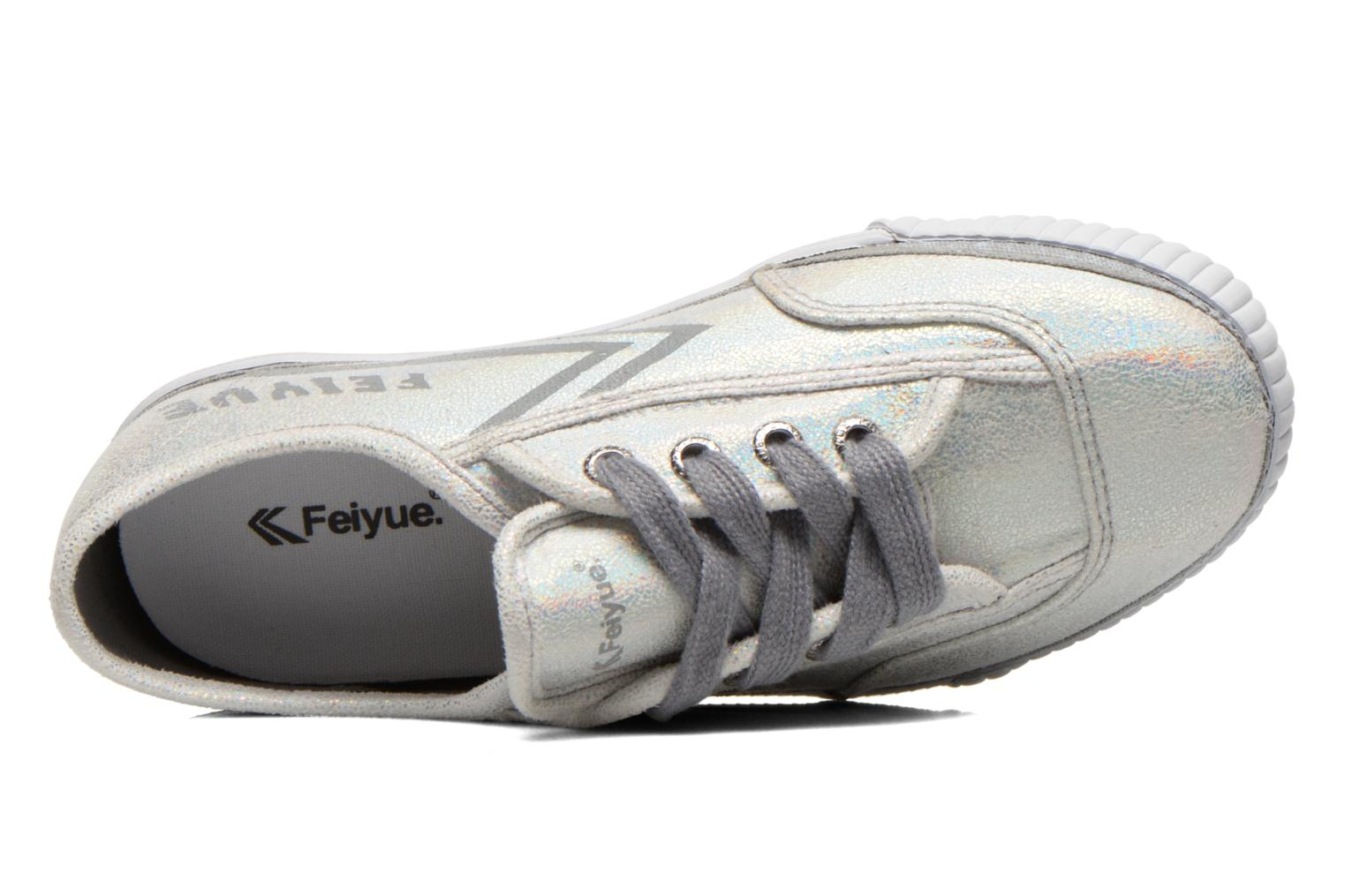 Trainers Feiyue Fe Lo Glitter Silver view from the left