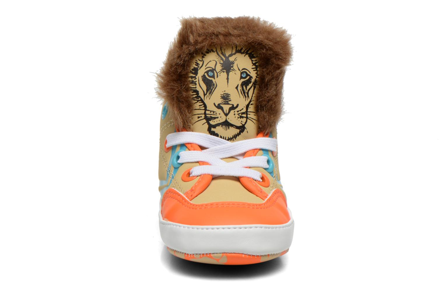 Trainers Feiyue Delta Mid Animal Crib Multicolor front view