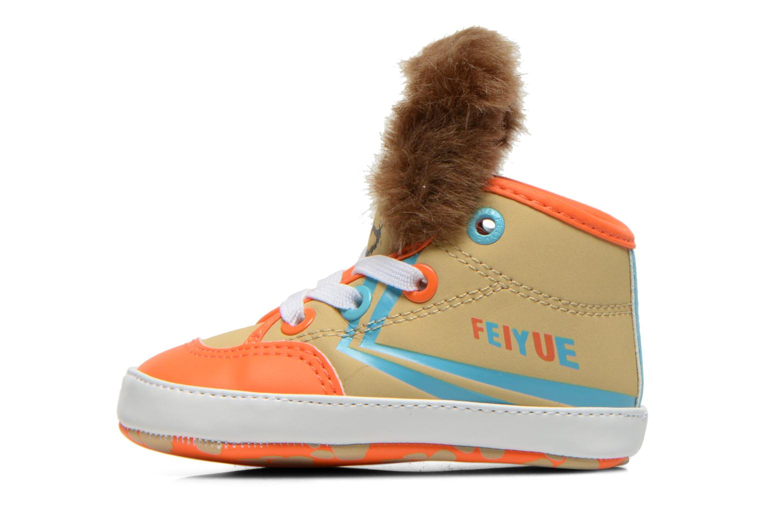 Trainers Feiyue Delta Mid Animal Crib Multicolor view from the right