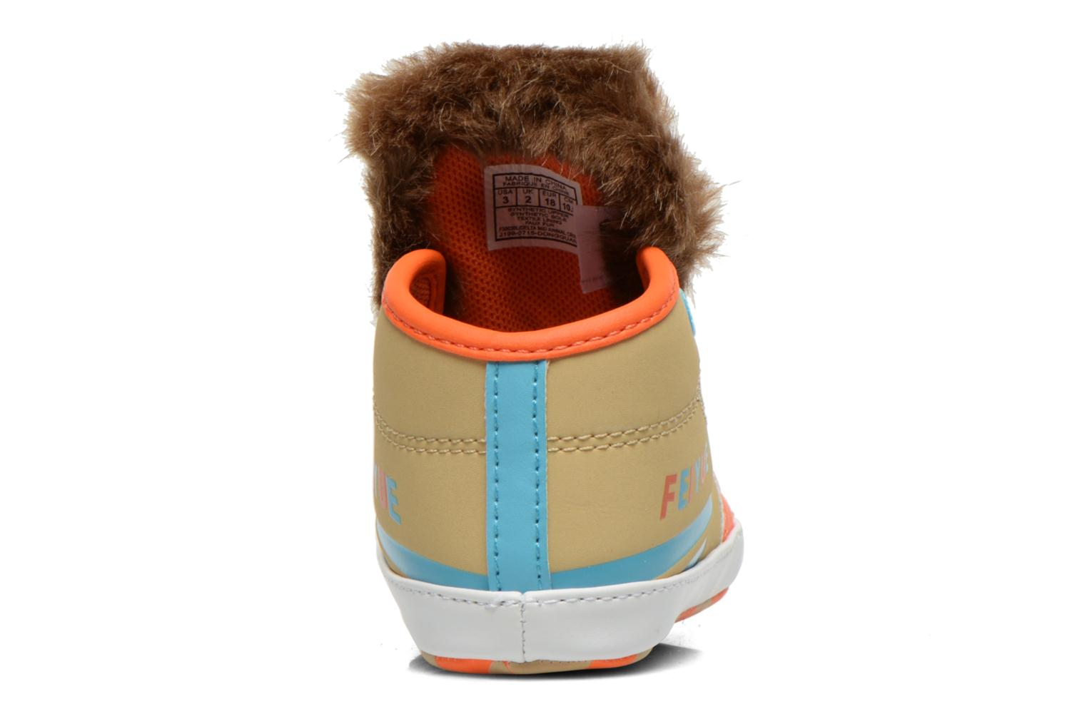 Trainers Feiyue Delta Mid Animal Crib Multicolor back view
