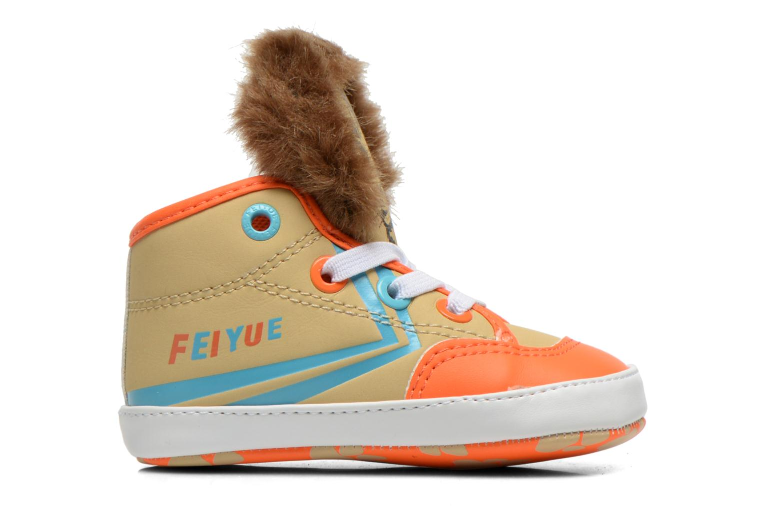 Trainers Feiyue Delta Mid Animal Crib Multicolor view from the left
