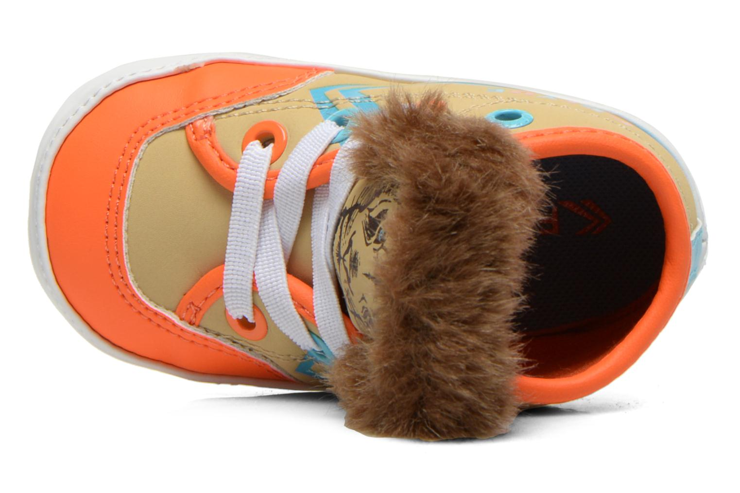 Trainers Feiyue Delta Mid Animal Crib Multicolor view from above