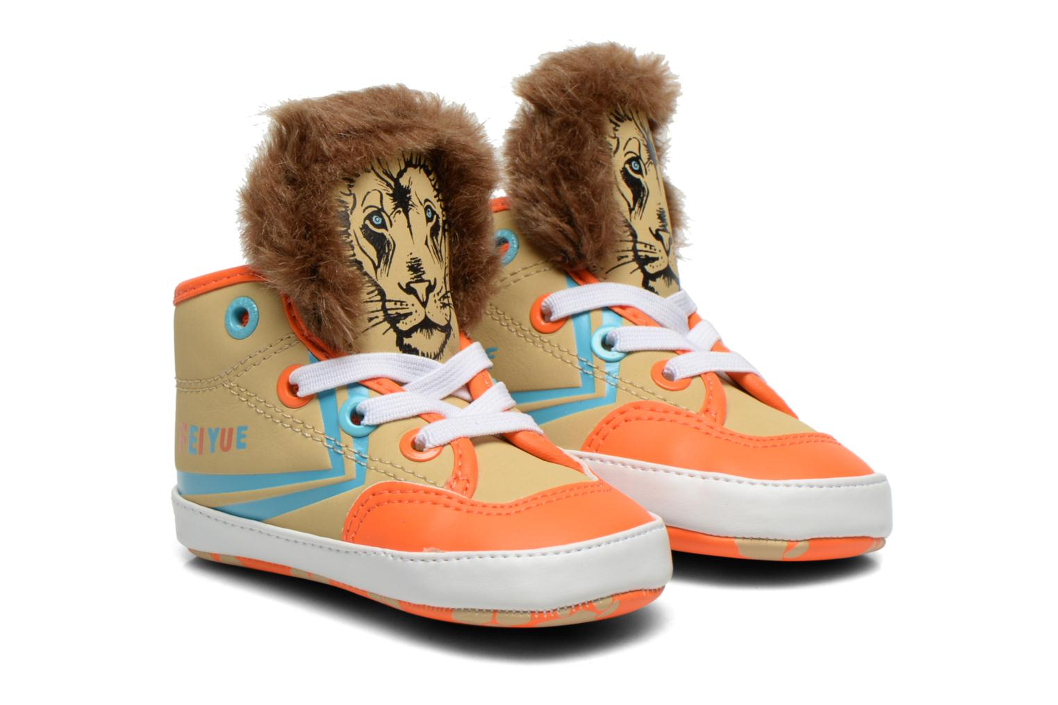 Trainers Feiyue Delta Mid Animal Crib Multicolor detailed view/ Pair view