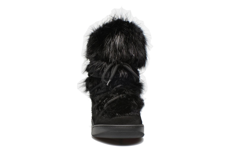 Bottines et boots Serafini Moon Fur Noir vue portées chaussures
