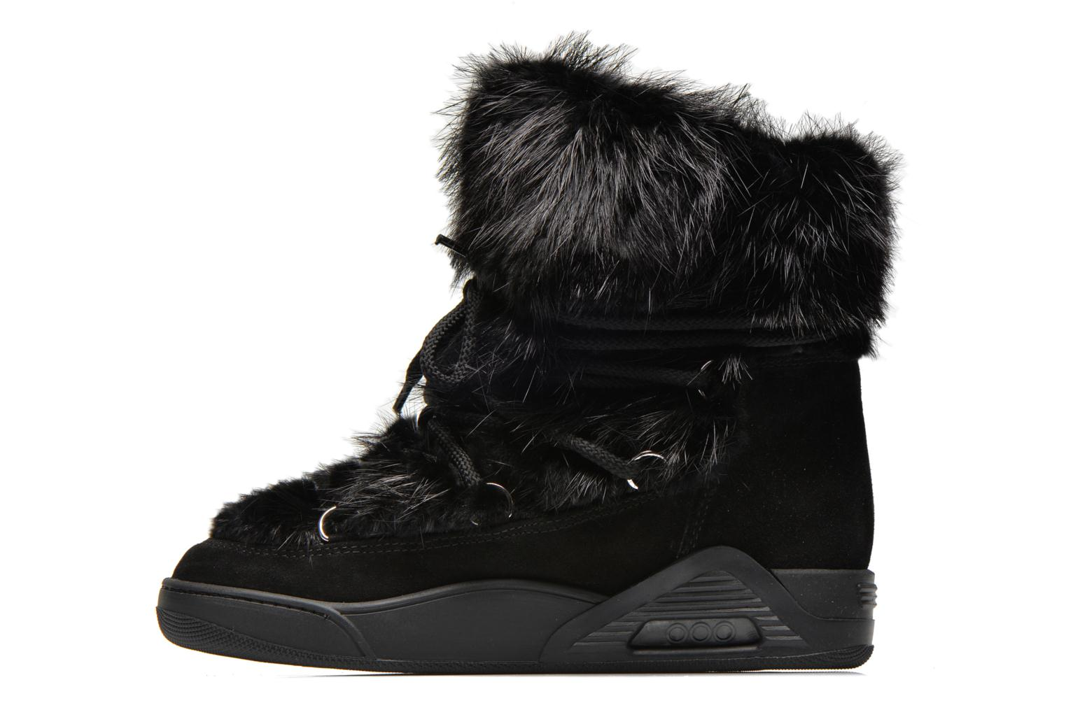 Ankle boots Serafini Moon Fur Black front view