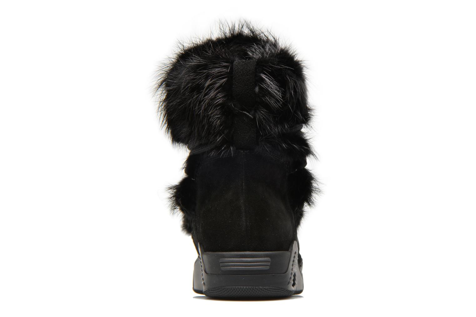Ankle boots Serafini Moon Fur Black view from the right