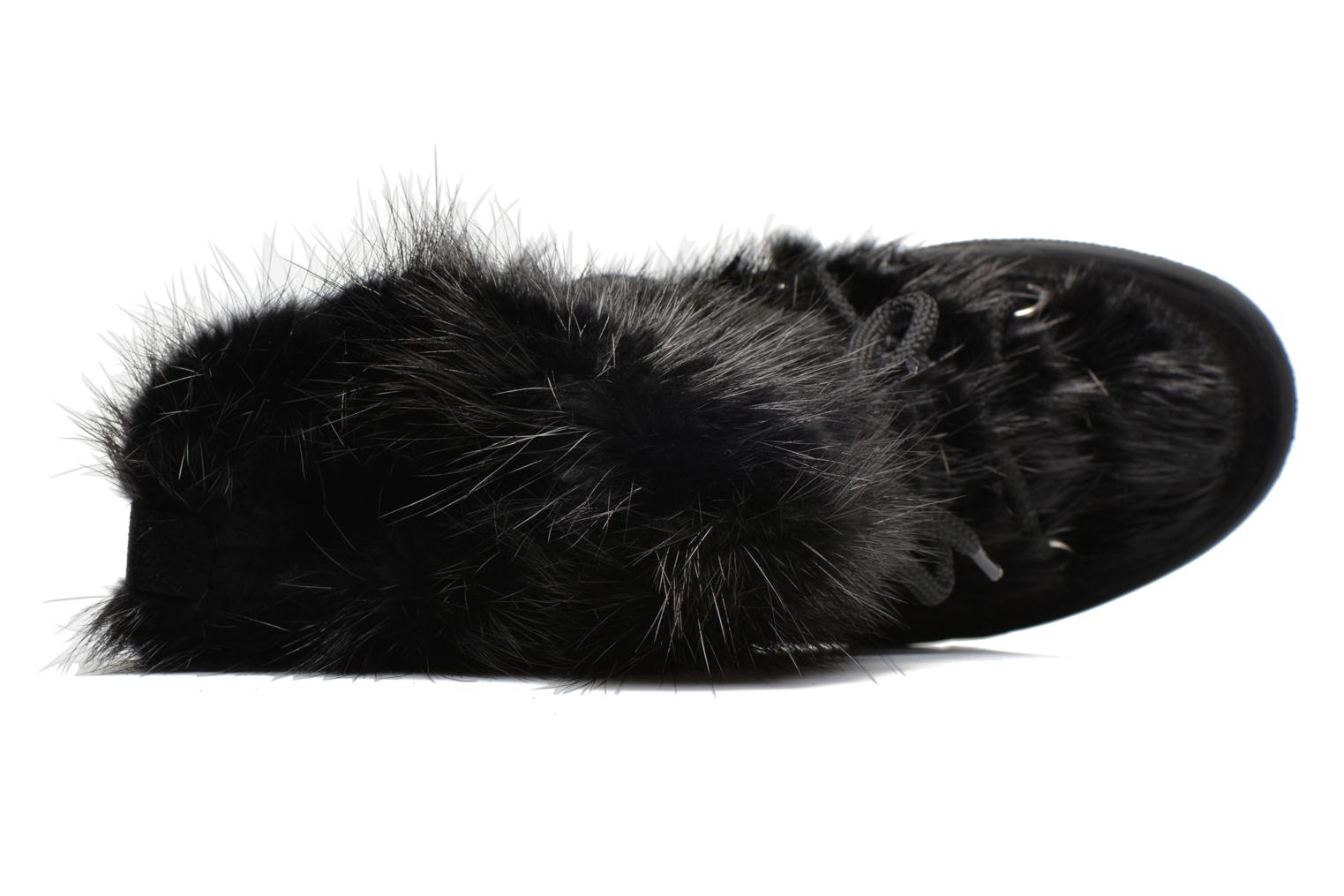Ankle boots Serafini Moon Fur Black view from the left
