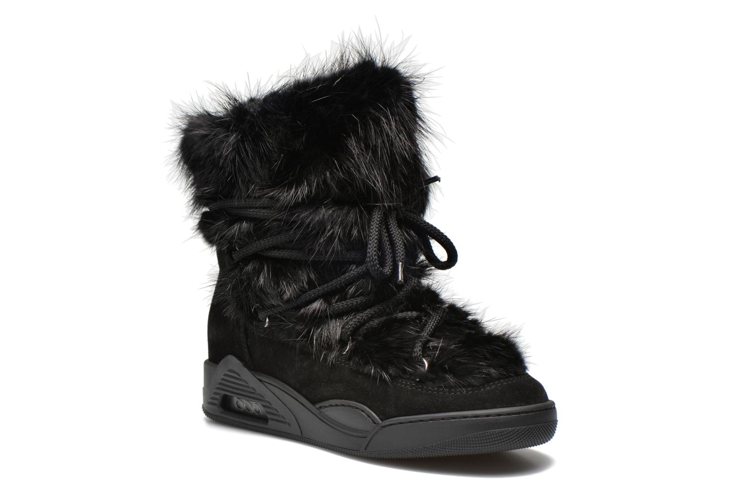 Ankle boots Serafini Moon Fur Black detailed view/ Pair view
