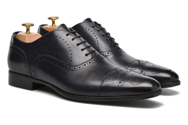 Zapatos con cordones Santoni William 14431 Azul vista 3/4