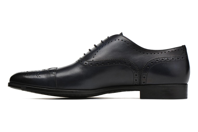 Zapatos con cordones Santoni William 14431 Azul vista de frente