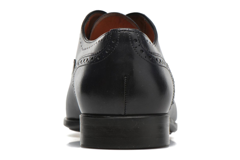 Zapatos con cordones Santoni William 14431 Azul vista lateral derecha