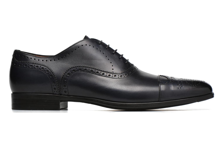 Zapatos con cordones Santoni William 14431 Azul vistra trasera