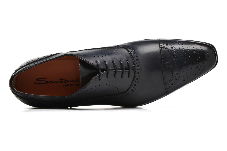 Zapatos con cordones Santoni William 14431 Azul vista lateral izquierda