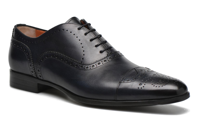 Snøresko Santoni William 14431 Blå detaljeret billede af skoene