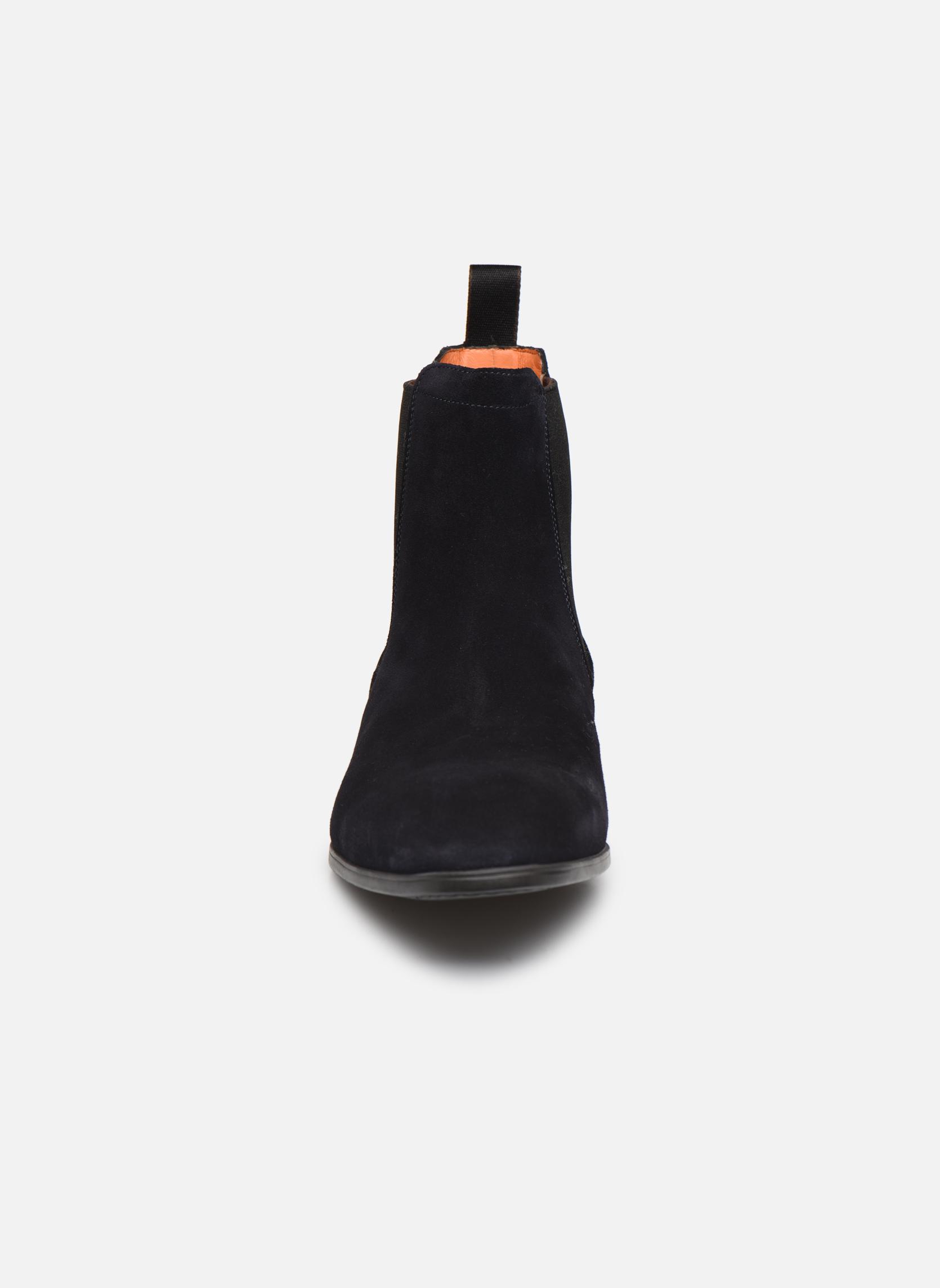 Bottines et boots Santoni Simon 13414 Bleu vue portées chaussures
