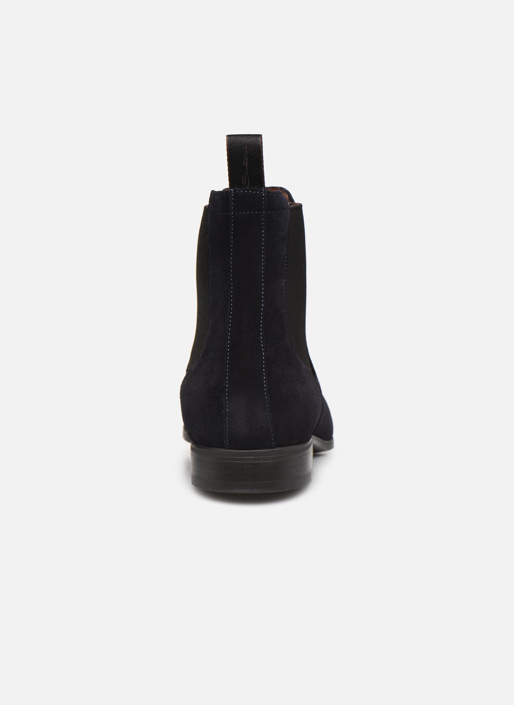 Bottines et boots Santoni Simon 13414 Bleu vue droite