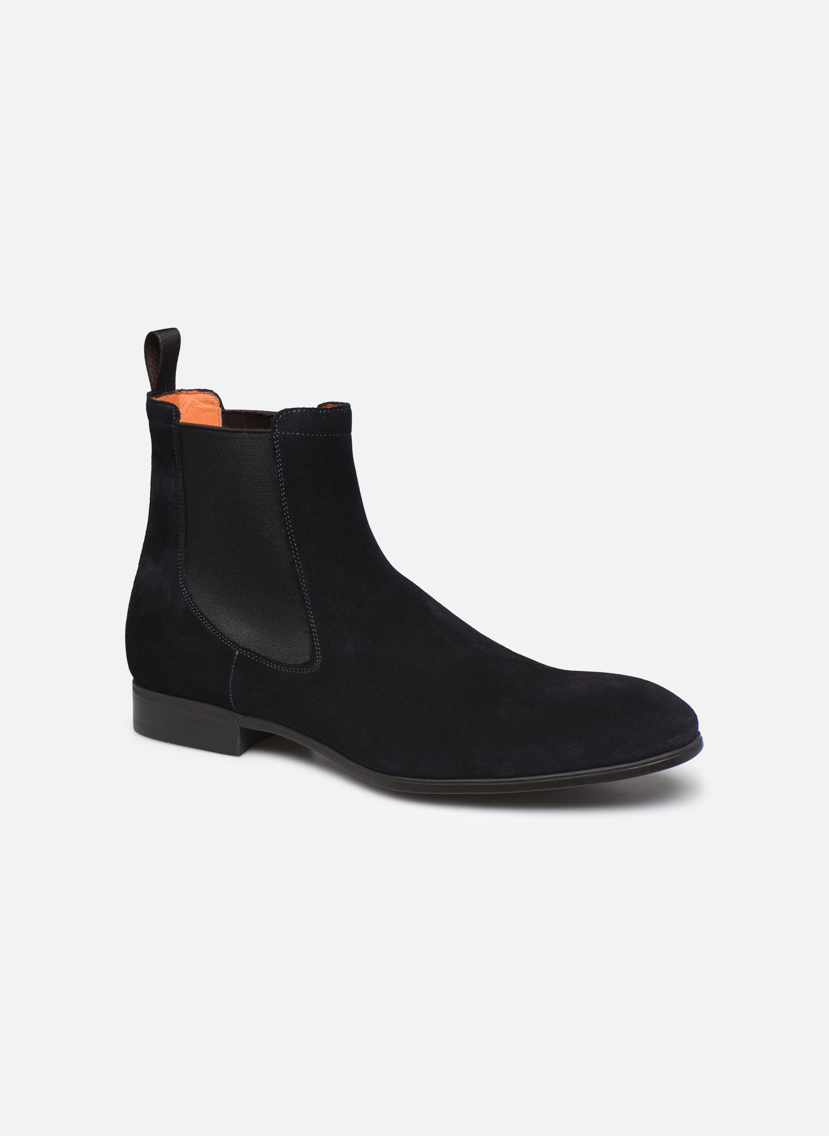 Bottines et boots Santoni Simon 13414 Bleu vue détail/paire