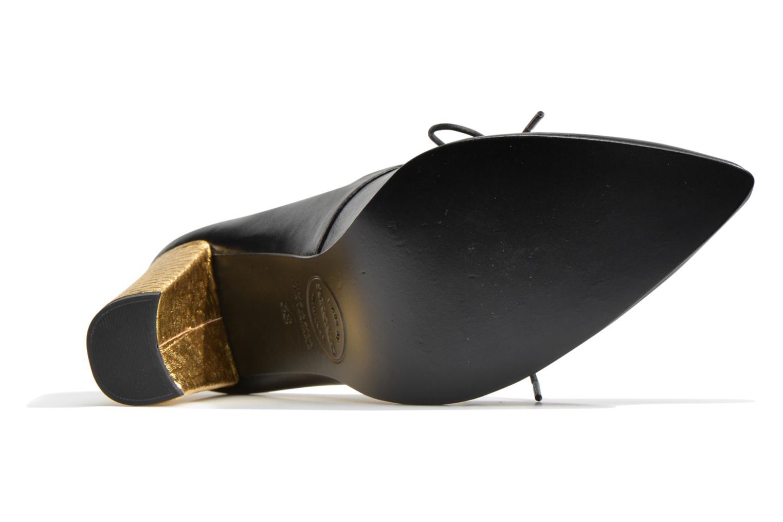 Flore Thirties #10 Napa leonor negro + talon cork coco metal oro