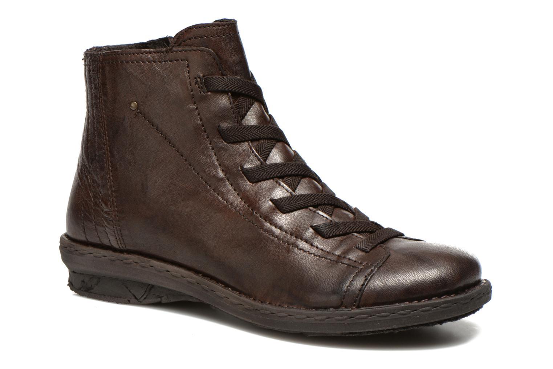 Snøresko Khrio Recasteli Brun detaljeret billede af skoene