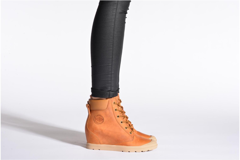Bottines et boots Palladium Esmeraldas CSR Noir vue bas / vue portée sac
