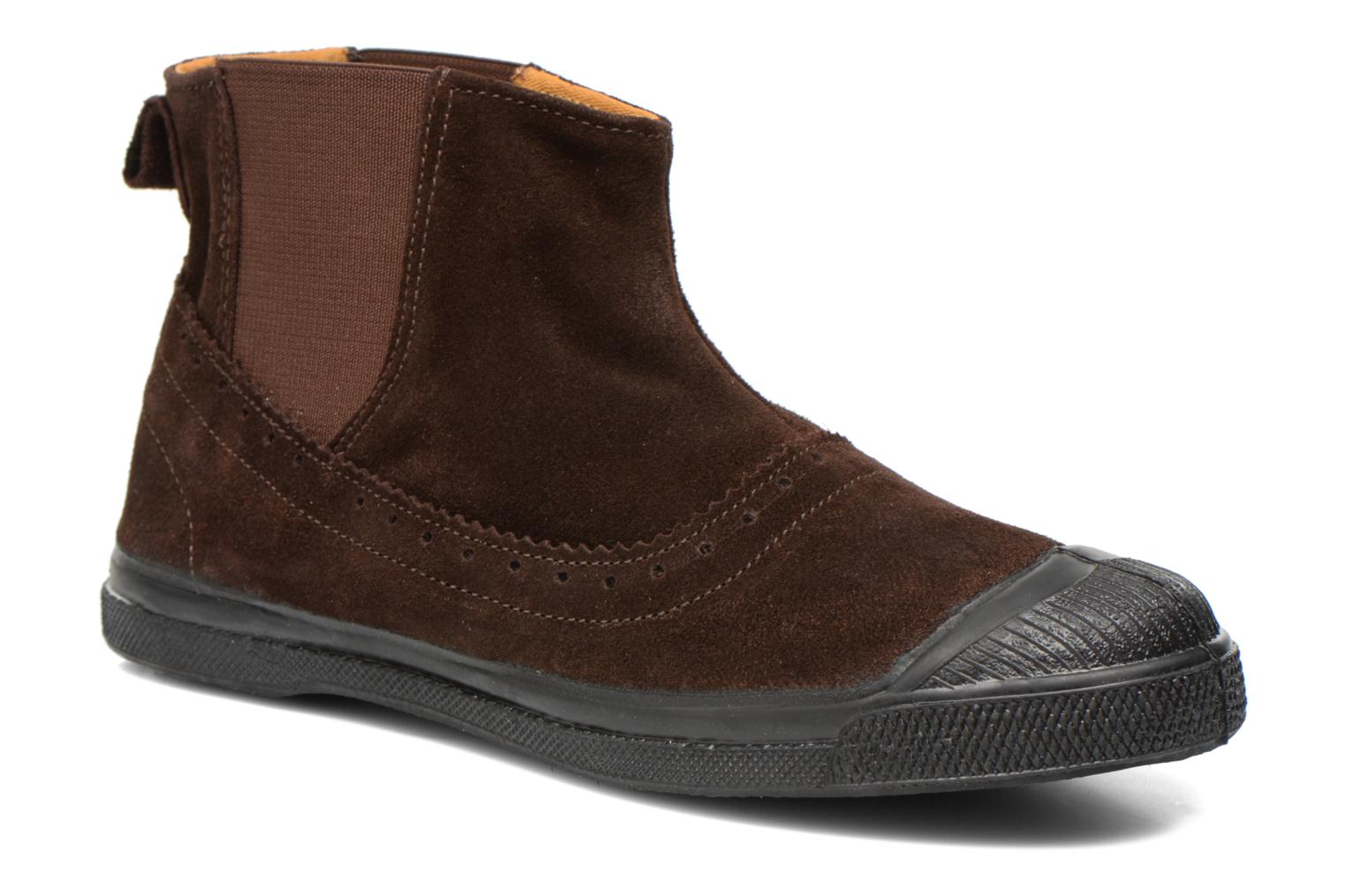 Ankle boots Bensimon Boot Chelsea Brown detailed view/ Pair view