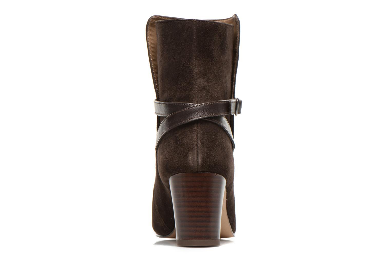 Botines  Bensimon Boots Talons Brides Marrón vista lateral derecha