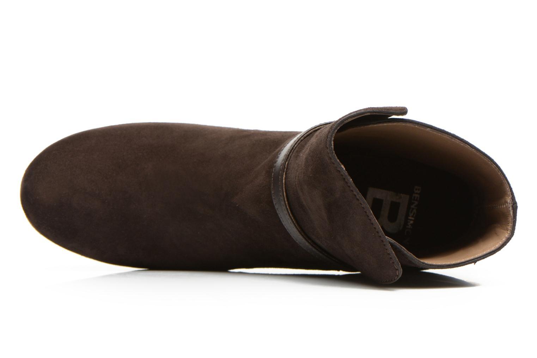Botines  Bensimon Boots Talons Brides Marrón vista lateral izquierda