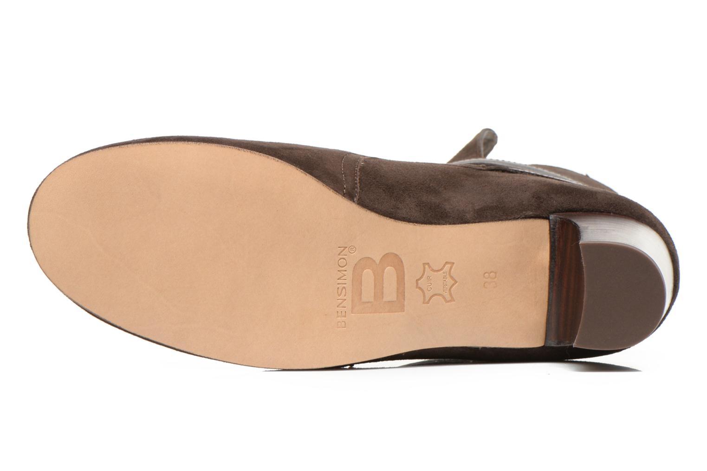 Botines  Bensimon Boots Talons Brides Marrón vista de arriba