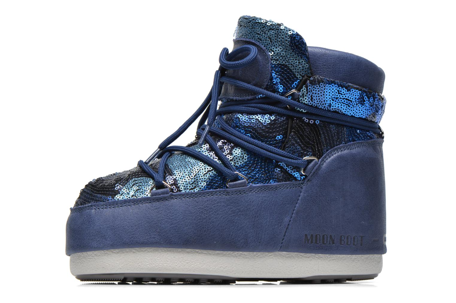 Botines  Moon Boot Buzz Paillettes Azul vista de frente