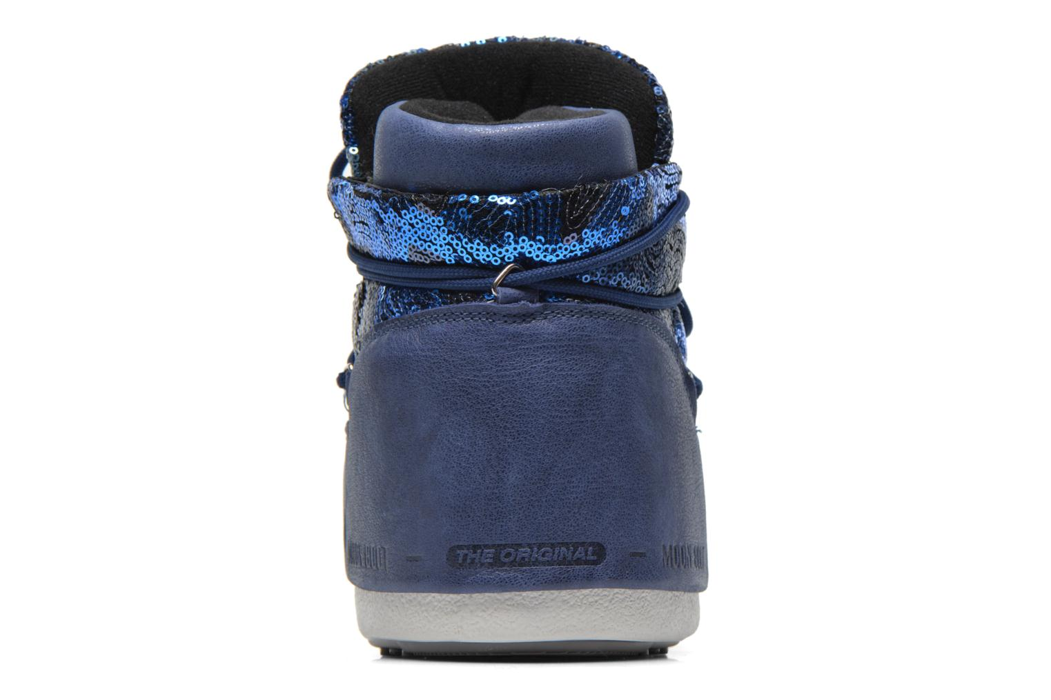 Botines  Moon Boot Buzz Paillettes Azul vista lateral derecha